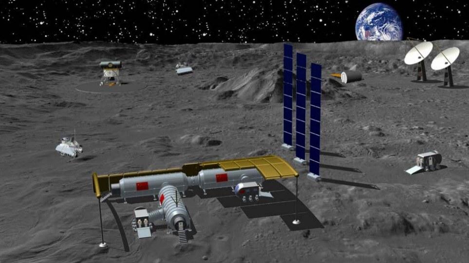Estação internacional de pesquisa lunar